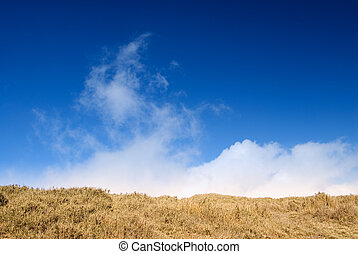blue sky and white cloud - It is a beautiful blue sky and...