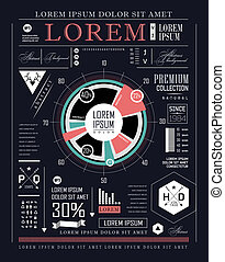 Retro infographic. Information graphics set ?an be used for...