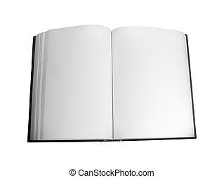 Blank Open Book - Blank open book isolated over white...