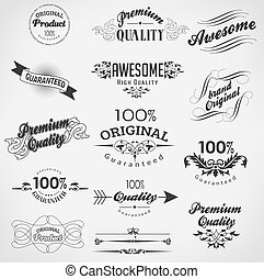 Vintage design elements - Vintage calligraphy, decoration...