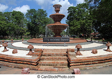 Big fountain in Mihintale, Sri Lanka
