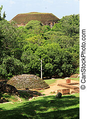 Two stupas - Two brick stupas in Mihintale, Sri Lanka
