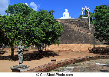 King Devanampiyatissa and Buddha - Statue of King...