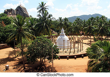 Ambasthala dagaba and rock in Mihintale, Sri Lanka