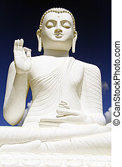 White Buddha - Big white sitting Buddha in Mihintale, Sri...