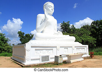 White Buddha - Big white Buddha in Mihintale, Sri Lanka