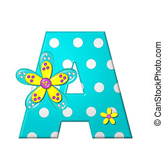 Alphabet Dotted Dania A - The letter A, in the alphabet set...
