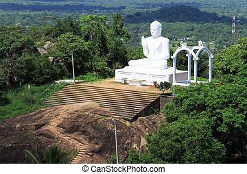 Big Buddha - Big white Buddha in Mihintale, Sri Lanka