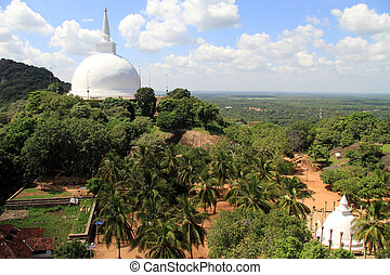 Two stupas in Mihintale, Sri Lanka