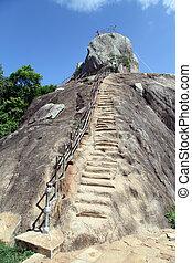 Aradhana Gala - Steps to the Aradhana Gala rock in...