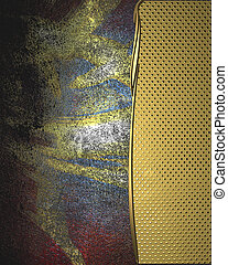 Grunge color texture, blue and red color, with gold edges....