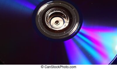 Dvd - Close up of a standard DVD