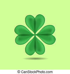 Four-Leaf Clover - Green Four-Leaf Clover Patrick day vector...