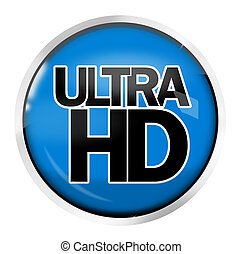 Ultra Hd 4K icon symbol design - ULTRA HD