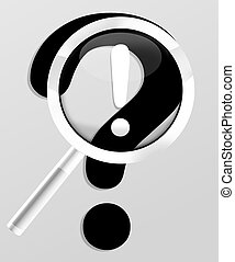 magnifying glass question mark Creative Design