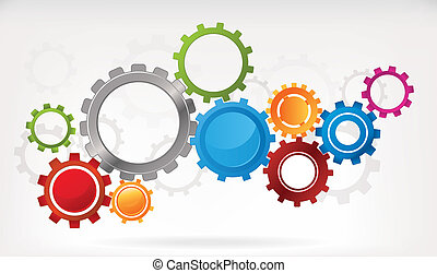 Gear Background - Mechanical abstract background with...