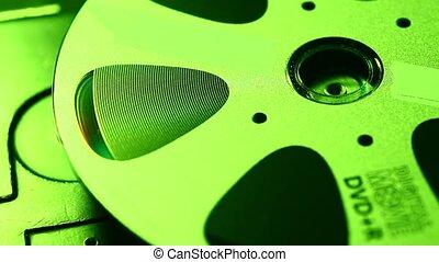 Dvd - Close up of a standard DVD