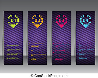 Abstract infographic label set