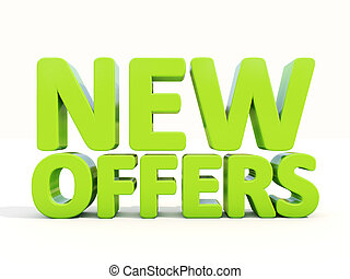 3d New offers - New offers icon on a white background. 3D...