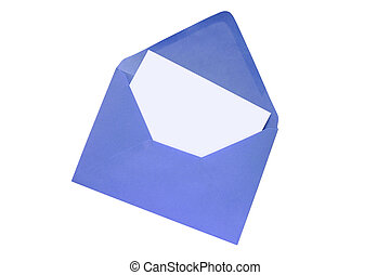 Blank white paper in a colorful envelope.