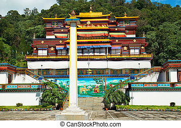 Indian buddhistic monastery - Traditional indian buddhistic...