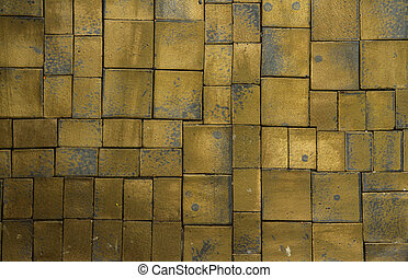 square golden background - many squares is gold  background