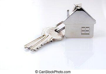 keys isolated - real estate - keys isolated on white...