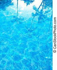 abstratos, azul, mar, verão, fundo