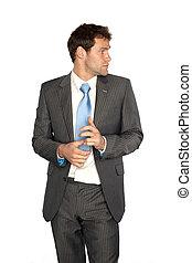 Business Man - A cautious business man.