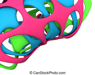 Abstract rubber art background