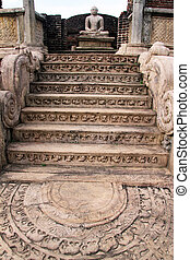 Moonstone and staircse - Moonstone and staircase of vatadage...