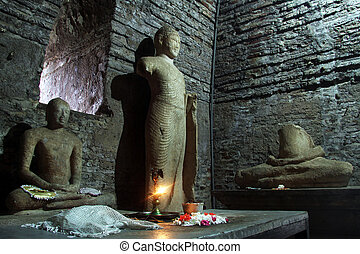 Buddhas in temple - Buddhas in the corner of temple...