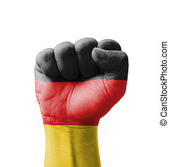 Fist of Germany flag painted, multi purpose concept -...