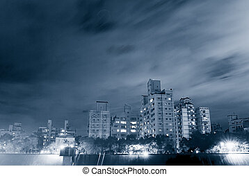 Night Scenes of Apartment - A Beautiful night scenes of...