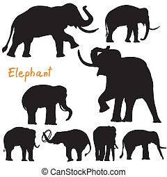 silhouette of elephant vector