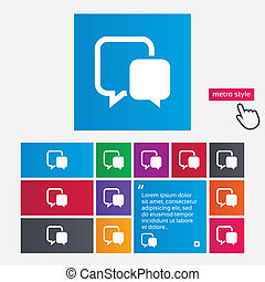 Chat sign icon Speech bubble symbol Communication chat...