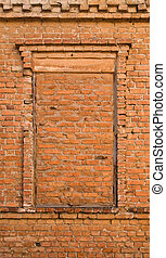 old walls - the old walls with red brick
