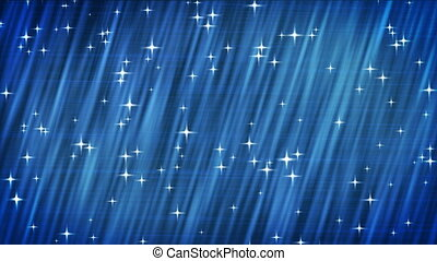 HDTV Stars on blue background