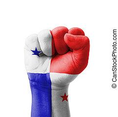 puño, Panamá, bandera, pintado, multi,...