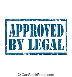 Approved By Legal-stamp - Grunge rubber stamp with text...