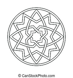 gothic ornament motif - gothic ornament interlaced motif