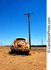 old car in desert