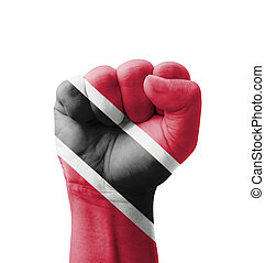 Fist of Trinidad and Tobago flag painted, multi purpose...