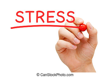 Stress Red Marker - Hand writing Stress with marker on...