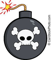 Bomb With Skull And Crossbones
