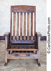 Rocking chair - Wooden rocking chair for relaxation