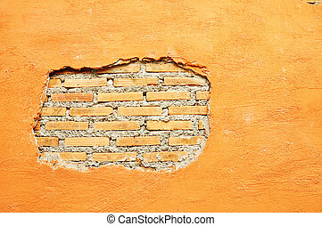 Plaster and Red brick wall damage - Plaster Cement or...