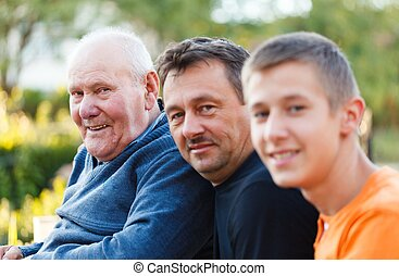 Three Generations Portrait - Portrait of three generations...