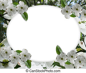 Wedding invitation Dogwood Border - Image Composition for...