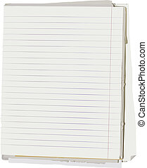 Old note book - Vector illustration of stack of old lined...